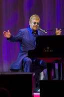 Legendary Sir Elton John performs during The Andy Roddick Foundation's 10th Annual Galaon