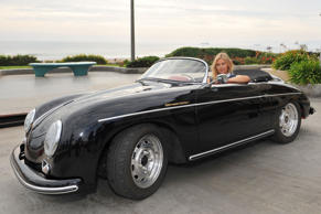 Maria Sharapova at the wheel of a Porsche 356 Speedster. Nope, not much to dislike about this photograph.