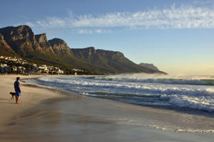 Beach of Camps Bay, Cape Town.