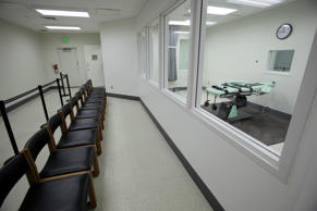 FILE - This Sept. 21, 2010 file photo shows a witness gallery inside the lethal injection facility at San Quentin State Prison in San Quentin, Calif. The Supreme Court's decision giving a green light to an execution drug triggered a renewed attempt in California to create a single-drug method of lethal injection for inmates on America's largest death row.