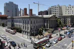 The exterior of the Old Mint is shown in San Francisco, Wednesday, June 24, 2015. The National Trust for Historic Preservation has listed San Francisco's Old Mint as one of the nation's 11 most endangered historic places.