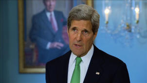 Kerry voices concern over use of force by Turkish police