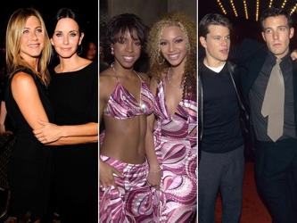 Relationships don't seem to last long in Hollywood, but some of the most enduring celebrity love stories have been purely platonic.From Jennifer and Courteney to Beyoncé and Kelly and Matt and Ben, look at some of the longest lasting friendships and how much the pairings have changed...