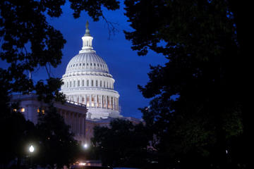 The U.S. Capitol Building stands in Washington, D.C., before sunrise on July 29, 2014.