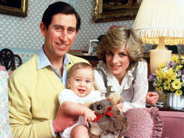 <p></p><p>Here's George's father Prince William with his parents Prince Charles and Princess Diana in 1982 - isn't he adorable?</p>