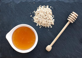 A natural antimicrobial, straight honey zaps acne-causing bacteria, but it's not drying. That's because the sweet stuff draws water into the skin so it looks and feels hydrated. Use it alone as a mask for 10 minutes, then rinse off, or stir in 1 Tbsp uncooked oatmeal to soothe and soften.