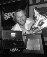 New York Islanders MVP Butch Goring poses with a sports magazine award and a watch in this 1981 photo. Goring, who played for the New York Islanders during their dynasty of the early 1980s, was hired as coach of the struggling team today. Goring replaced Bill Stewart, who was promoted from his assistant's job on Jan. 21, taking over for Mike Milbury, who had been both general manager and coach.