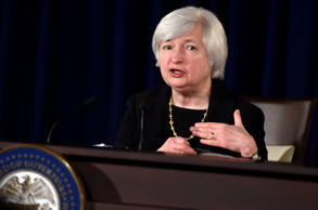 Federal Reserve Chairman Janet Yellen speaks during a news conference at the Federal Reserve in Washington, Wednesday, Sept. 17, 2014. The Federal Reserve signaled Wednesday that it plans to keep a key interest rate at a record low for a considerable period because a broad range of U.S. economic measures remain subpar.