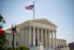 The Supreme Court building in Washington, Monday, June 30, 2014, following various court decisions.