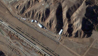 This is a satellite image of the Parchin high explosive test site in Iran collected on December 9, 2012.