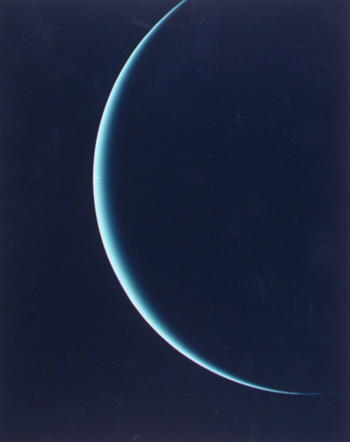 Unlike Earth and other planets, Uranus rotates in a retrograde direction.