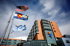 The Children's Hospital Colorado, which has seen 10 patients with respiratory enterovirus EV-D68 after an outbreak in the state, is seen on September 30, 2014 in Aurora, Colorado.