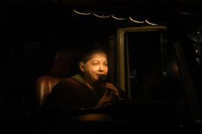 J Jayalalithaa during an election campaign in Cuddalore, Tamil Nadu.