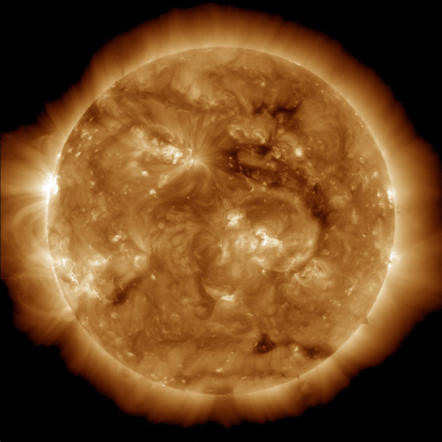 The Sun is about 330,000 times greater than Earth.
