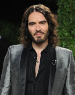 Actor Russell Brand attends the 2013 Vanity Fair Oscar party at Sunset Tower on February 24, 2013 in West Hollywood, California.