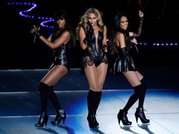 In this Feb. 3, 2013 file photo, members of Destiny's Child, from left, Kelly Rowland, Beyoncé, and Michelle Williams perform at Super Bowl XLVII, in New Orleans.