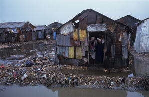 Slums, Haiti, Cite Soleil Shanty Town, Port-Au-Prince, As the top soil leaves the countryside so do the peasants, These environmental refugees are among the most disadvantaged people in the world.