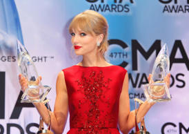 Swift became the first woman (and second person) to receive the Country Music Association's Pinnacle Award in 2013.