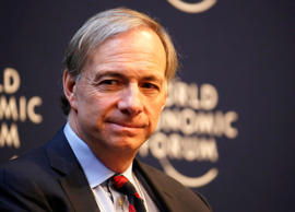 Raymond 'Ray' Dalio, billionaire and founder of Bridgewater Associates LP, pauses during a session on the opening day of the World Economic Forum (WEF) in Davos, Switzerland, on Wednesday, Jan. 22, 2014. World leaders, influential executives, bankers and policy makers attend the 44th annual meeting of the World Economic Forum in Davos, the five day event runs from Jan. 22-25. Photographer: Jason Alden/Bloomberg *** Local Caption *** Raymond Dalio