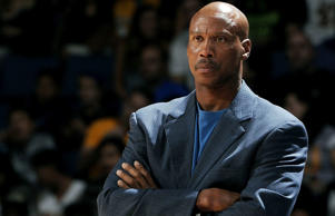 Los Angeles Lakers head coach Byron Scott looks on during a preseason game against the Golden State Warriors on Oct. 12, at Citizens Business Bank Arena in Ontario, Calif.