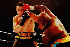 Joseph Parker fights Sherman Williams during the Heavyweight title bout between Joseph Parker and Sherman Williams at Trusts Stadium on Thursday in Auckland, New Zealand.
