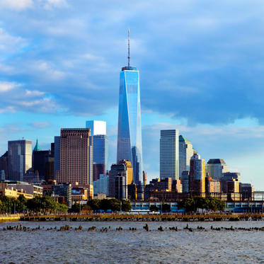 Initially called the Freedom Tower, at 1,776 feet tall, One World Trade Center is the tallest building in the Western Hemisphere. Built on the site of the destroyed Trade Towers, it took 10,000 workers 12 years to complete the 104-floor building.
