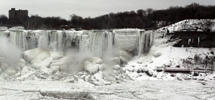 "The United States side of Niagara Falls in New York thaws after the recent ""polar vortex"" that affected millions in the United Sates and Canada."
