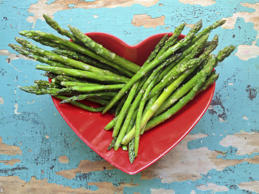 "Nibbling on these flower-like spears can help boost feelings of serenity. ""Asparagus is high in folate, a mineral that has been found to enhance mood, making it a great stress-reducer,"" says Glassman. And this low-calorie, low-sodium veggie has also been shown to have antidiabetic effects. According to a study published in the British Journal of Nutrition, asparagus can keep blood sugar levels in check and increase insulin production in those who suffer from type 2 diabetes."