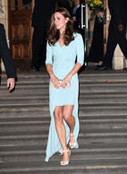 In her second outing post the baby announcement, the Duchess of Cambridge Catherine showed her daring side with a mullet dress - short at the front and sides, and long at the back. Here's a look at other famous ladies who wore the same style with panache.