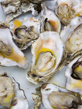 "This shellfish may be famous for its aphrodisiac powers, but that's not its only health benefit. ""Thanks to their high level of zinc—a mineral that has been shown to decrease the secretion of cortisol in your body—oysters can also be considered a stress-busting food,"" says Palinski-Wade. A single oyster also contains nearly 11 mg of zinc, a mineral vital for a healthy immune system."