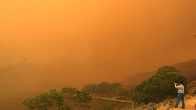 Diapositiva 1 de 10: Incendios en California