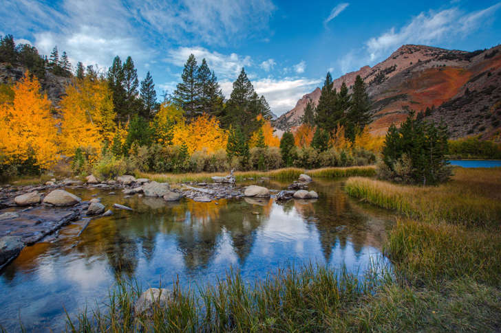Fall color at North Lake in the Eastern Sierra outside of Bishop, California.
