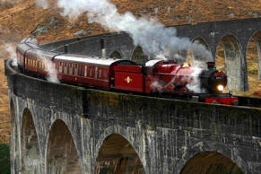 Best remembered as the train that leaves from platform nine and three quarters in Harry Potter series, few know that the historic steam train is called The Jacobite and runs from Fort William to Mallaig in Scotland on West Highland Line.