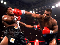 "In this Nov. 22, 1986, file photo, Mike Tyson, right, delivers a powerful blow to Trevor Berbick in the second round in Las Vegas. At one time he was the baddest man on the planet, a heavyweight champion who terrorized anyone who got in his way, inside the ring or out. More recently he's unburdened himself as perhaps the most tortured soul on earth, with a one-man show on Broadway that Spike Lee has turned into an HBO special airing Nov. 16. Now he's got a new autobiography that might be the most soul baring book of its genre ever written. The title is ""Undisputed Truth,"" and the truth is that Mike Tyson is one messed up dude."