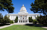 California State Capitol in Sacramento on a sunny summer day.