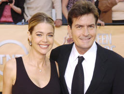 Charlie Sheen arrives with his wife Denise Richards for the 11th annual Screen Actors Guild Awards in this Feb. 5, 2005, file photo in Los Angeles. Sheen and his ex-wife, Denise Richards, were in Los Angeles family court Tuesday, Jan. 22, 2008. Commissioner Harvey A. Silberman took the proceedings behind closed doors before there was any discussion about the reason for the hearing. Sheen arrived with his lawyer while Richards' attorney participated by telephone.