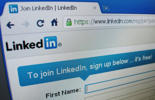 The sign up page for LinkedIn.com