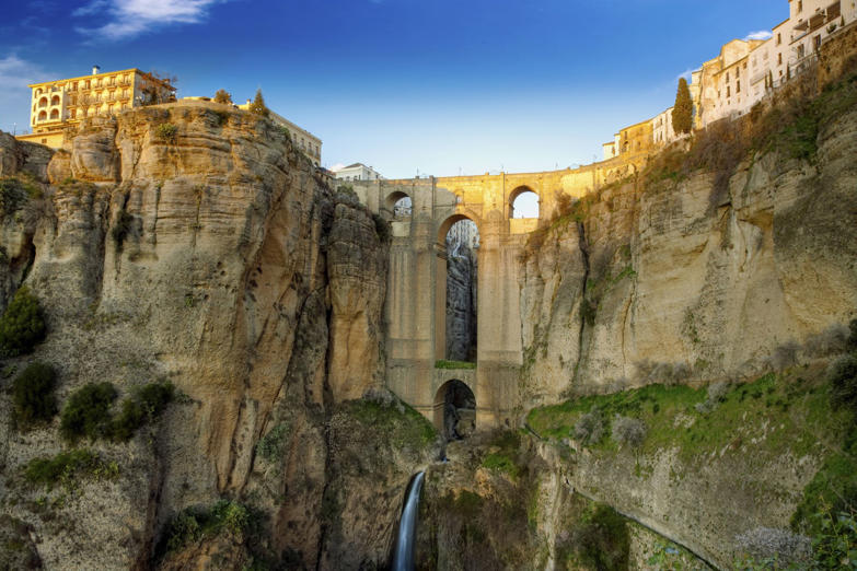 The village of Ronda in Andalusia, Spain. This photo made by HDR technic