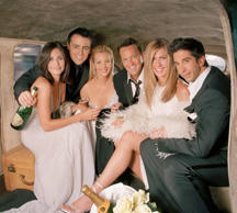 FRIENDS -- Season 10 -- Pictured: Courteney Cox as Monica Geller, Matt LeBlanc as Joey Tribbiani, Lisa Kudrow as Phoebe Buffay, Matthew Perry as Chandler Bing, Jennifer Aniston as Rachel Green, David Schwimmer as Dr. Ross Geller  (Photo by NBC/)