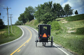 Amish horse and buggy in Ohio Amish country.