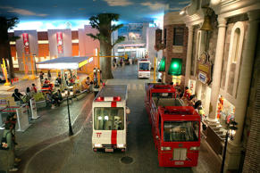 KidZania is themed as a child-sized model of a real city, including buildings, shops and hospitals, as well as vehicles and pedestrians moving along its streets. Have a look at the interesting KidZania.