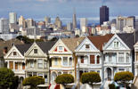 The 'Painted Ladies', Victorian houses in Alamo Square, San Francisco.