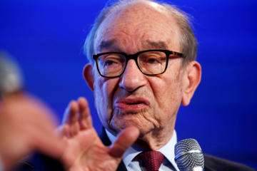 Former Federal Reserve Chairman Alan Greenspan answers a question by Ben White of Politico at the 2014 Fiscal  Summit organized by the Peter G. Peterson Foundation in Washington, on May 14, 2014.