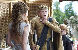 Natalie Dormer, left, Jack Gleeson, and Peter Dinklage in a scene from 'Game of ...