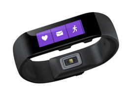 This product image provided by Microsoft shows the Microsoft Band.