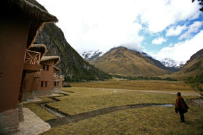 The Salkantay Lodge and Trek facility, located in the high plane of the Saraypampa area, Saraypampa, Peru.