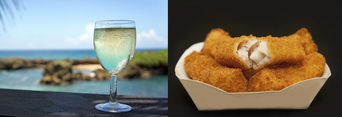 A glass of wine is almost like having 4 fish fingers.
