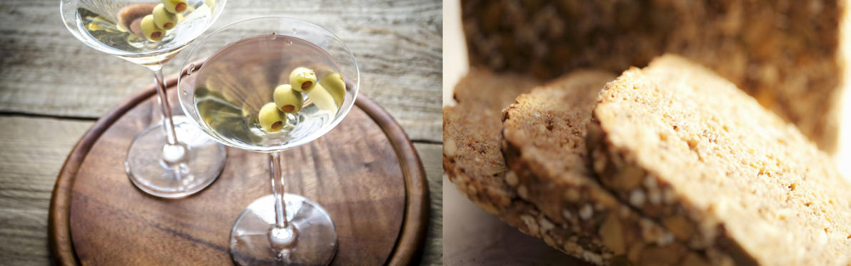 With 124 calories in a martini, one can have a piece of bread for the same number of calories.