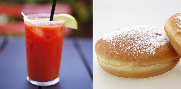 Though a double vodka glass is light and contains 165 calories, you can have a doughnut and consume the same number of calories.