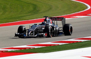 File: Sauber Formula One driver Adrian Sutil of Germany drives during a free practice session of the United States F1 Grand Prix at the Circuit of The Americas in Austin, Texas October 31, 2014.